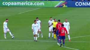 Messi sent off as Argentina finish third [Video]