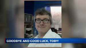 Goodbye and good luck, Toby! [Video]