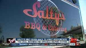Salty's BBQ and Catering feeds first responders [Video]