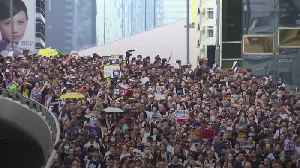 Huge march in Hong Kong against extradition bill