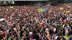 Huge crowds attend latest anti-government protest in Hong Kong [Video]