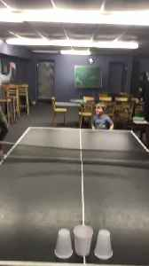 Three-Year-Old Beats Adults by Landing Ping Pong Ball in Plastic Cup [Video]