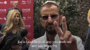 Sir Ringo Starr shares his advice for staying fit and healthy as he turns 79 [Video]