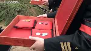 Russia lays to rest 14 officers killed in fire on nuclear-powered submarine [Video]