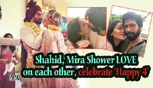 Shahid, Mira Showers LOVE on each other, celebrates 'Happy 4' [Video]