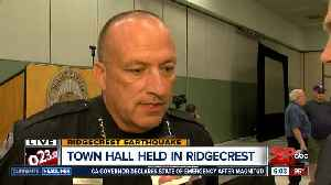 Ridgecrest Police Chief McLaughlin updating on earthquake recovery during town hall [Video]