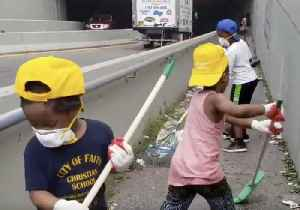 Tired of Trash: Bronx Kids Clean Up Route to Subway Station [Video]
