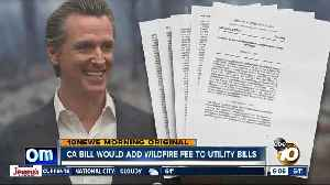 Governor-backed bill would add charge to utility bills to pay for wildfire damage [Video]