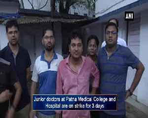 Junior doctors continue protest at PMCH demanding re-evaluation of exams [Video]