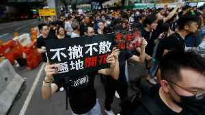 News video: Thousands march in Hong Kong to draw mainland Chinese attention