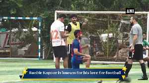 Ranbir Kapoor puts his best foot forward in football in Mumbai [Video]