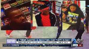 4 teens wanted in shooting, car theft in May [Video]