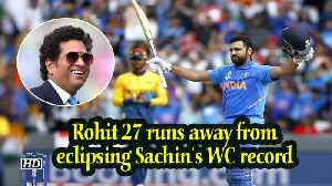 Rohit 27 runs away from eclipsing Sachin's WC record [Video]