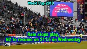 World Cup 2019 | Rain stops play, NZ to resume on 211/5 on Wednesday [Video]