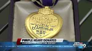 Purple Heart medal donated to Tucson Goodwill [Video]