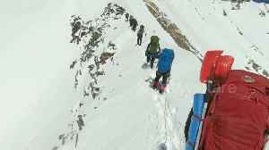 Himalayan climbers' last moments revealed in video taken before avalanche [Video]