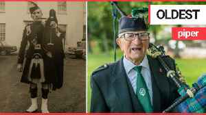 An OAP has become the world's oldest piper at the age of 98 [Video]