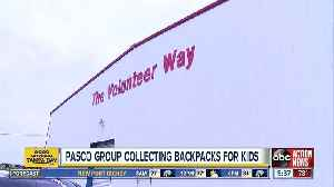Pasco County volunteer group collecting backpacks for children in need [Video]