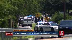 Man arrested after police chase and manhunt [Video]