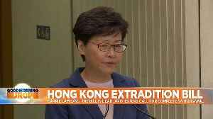 Hong Kong's Carrie Lam says controversial extradition bill is 'dead' [Video]
