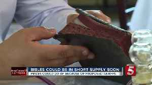 Bible shortage? Publishers say tariffs could cause one [Video]