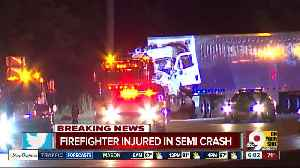 Liberty Township firefighter, semi driver injured in crash on northbound Interstate 75 [Video]