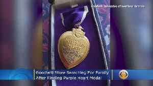 News video: Goodwill Store Searching For Family After Finding Purple Heart Medal In Donation Box