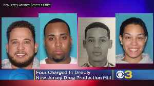 4 Charged In Deadly New Jersey Drug Production Mill, Authorities Say [Video]