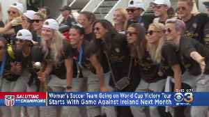 News video: US Women's Soccer Team Hitting Road To Celebrate World Cup Title