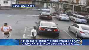 Police Searching For Suspects Who Robbed Man At Gunpoint In Grocery Store Parking Lot [Video]
