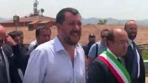 Italy's Matteo Salvini live broadcasts closure of one of Europe's largest migrant centres [Video]