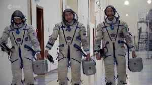 Space Chronicles: Astronauts 'emotional' as launch of space station mission approaches [Video]