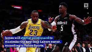LeBron James to Start at Point Guard for Lakers [Video]