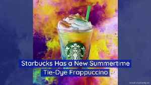 Starbucks Has a New Summertime Tie-Dye Frappuccino [Video]