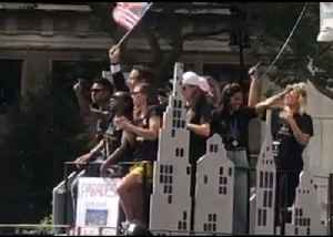 USWNT Players Lead 'Equal Pay' Chant During New York Parade [Video]