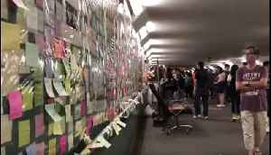 Hundreds of Pro-Democracy Notes Spread Across Hong Kong's 'Lennon Wall' [Video]