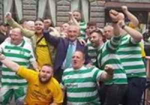 Albanian President Joins Boisterous Celtic Fans Partying on Sarajevo Street [Video]
