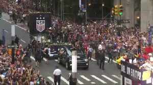 News video: Women's World Cup champs celebrate in NYC