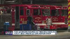 Detroit employees hurt when firecrackers exploded in toilets as part of prank [Video]