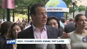 Gov. Cuomo signs equal pay laws [Video]