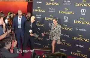 Beyonce leads red carpet stars at The Lion King premiere [Video]