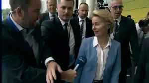 News video: Ursula von der Leyen dodges Euronews' questions on MEP support for Commission presidency
