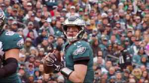 Which quarterback is more likely to represent NFC in a Super Bowl: Philadelphia Eagles quarterback Carson Wentz or Carolina Pant [Video]