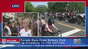 USWNT Fans Line Canyon Of Heroes [Video]