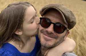 David Beckham asks daughter Harper to 'stop growing up' on 8th birthday [Video]