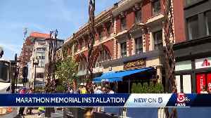 Boston Marathon bombing memorial being installed [Video]