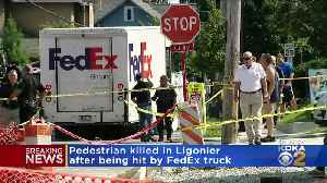Woman Fatally Struck By Fed-Ex Truck [Video]