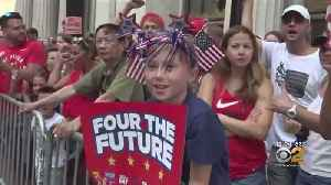Adoring Fans Line Ticker Tape Parade Route [Video]