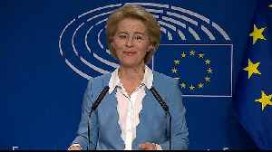 News video: Von der Leyen courts MEPs in bid for EU's top job