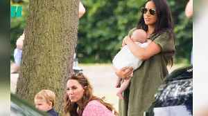News video: Royal Babies Support Dads William And Harry At The Polo